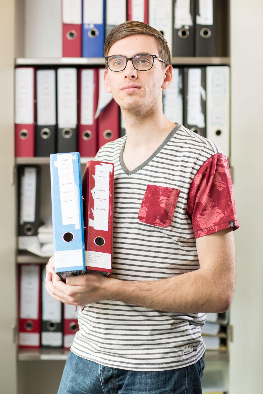 David Pronk werkt bij P-direct in Zwolle.  Foto Tjitske Sluis